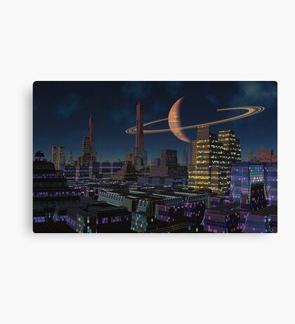 Fall of Titan Night Canvas Print