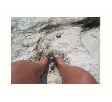 Toes in the Sand Art Print