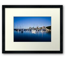 Sail Boats Rushcutters Bay Framed Print