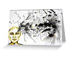As my thoughts exploded on the page, you left me... Greeting Card