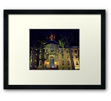 Night  Campus  Princeton  Framed Print