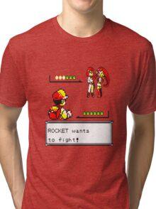 Pokemon Yellow - Rocket Battle Tri-blend T-Shirt