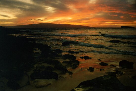Maui Sunset by Michael  Moss