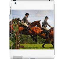 Horse jumping multiple exposure iPad Case/Skin