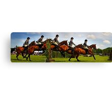 Horse jumping multiple exposure Canvas Print