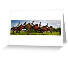 Horse jumping multiple exposure Greeting Card