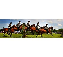 Horse jumping multiple exposure Photographic Print