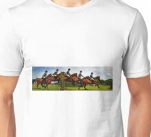 Horse jumping multiple exposure Unisex T-Shirt