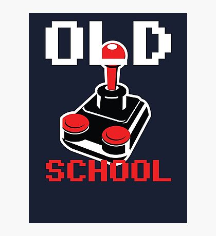 Retro Old School Gamer Photographic Print