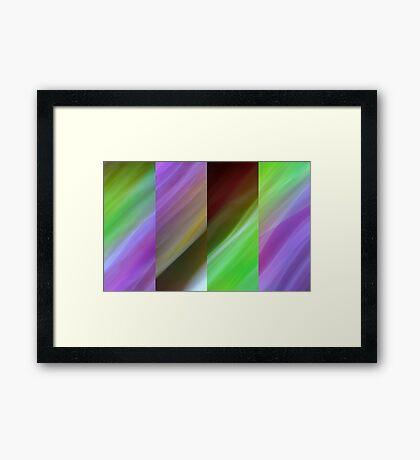 Lime Splice Framed Print