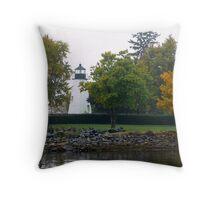 Concord Point Lighthouse_3 Autumn Throw Pillow