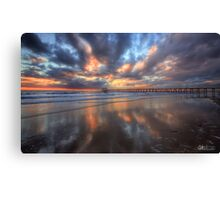 Henley Beach Reflections - HDR Canvas Print