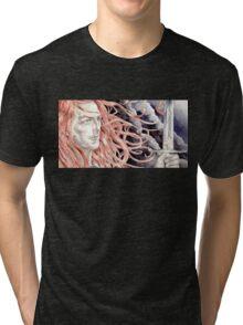 Maedhros did deeds ... Tri-blend T-Shirt