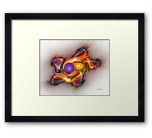 'Light Flame Abstract 332' Framed Print