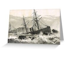 Wreck of St Lawrence on Paternoster Reef Greeting Card