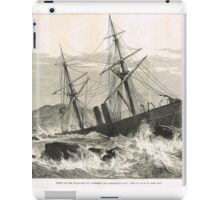 Wreck of St Lawrence on Paternoster Reef iPad Case/Skin