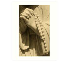 A Prayer For You Hands In Prayer ~ Angel Art Print