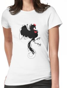 Love Cock Black Womens Fitted T-Shirt