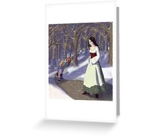 Wishing You a Snow White Christmas Greeting Card
