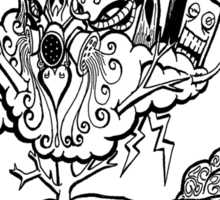 DEVILS IN THE BATHROOM Sticker
