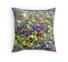 Pansy Bubbles Throw Pillow