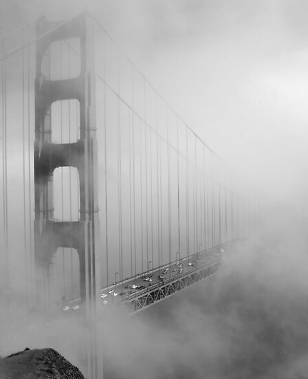 on a foggy day by Ted Petrovits