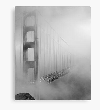 on a foggy day Canvas Print