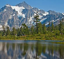 Mt. Shuksan, Picture Lake (2) (North Cascades National Park) by Barb White