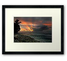 Sunset Rays - Cocos (Keeling) Islands Framed Print