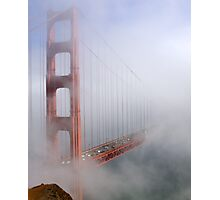 on a foggy day in color Photographic Print