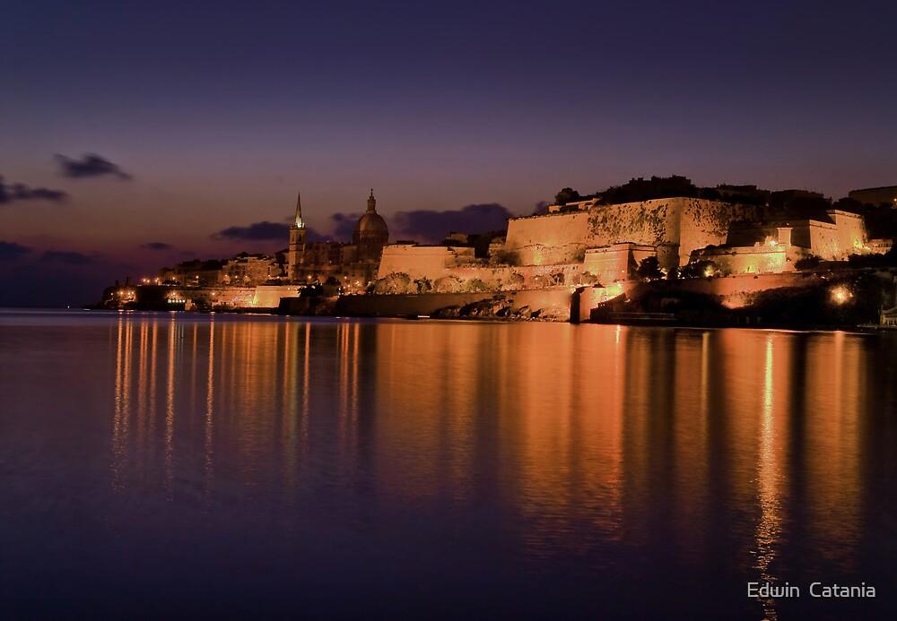 Marsamxett Creek Valletta Malta by Edwin  Catania