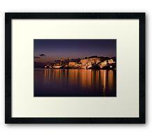 Marsamxett Creek Valletta Malta Framed Print