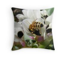 Bee Butt in The Broad Beans Throw Pillow