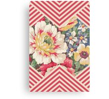 Candy Floral Chevron Canvas Print