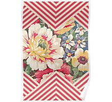 Candy Floral Chevron Poster