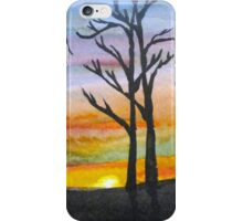 Sunset Silhouettes in the Woods iPhone Case/Skin