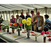 The Show Marquee at Hawkesbury Upton Horticultural Show. Photographic Print