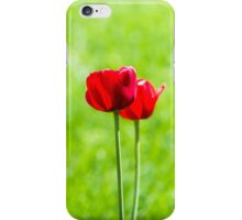 Two red tulips iPhone Case/Skin