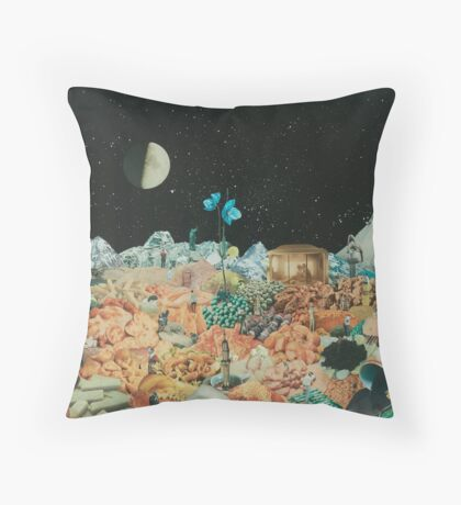 Nocturnal Landscape Throw Pillow