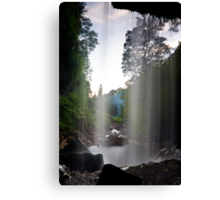 Behind the Water Curtain Canvas Print