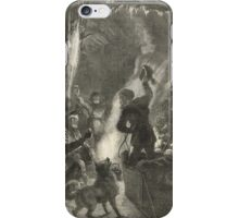Christmas in The Hudson's Bay territory Canada 1876 iPhone Case/Skin