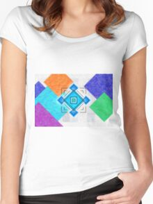 Gem Box Title Screen Women's Fitted Scoop T-Shirt