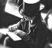 Boy Writing With Top Hat by apclemens