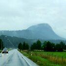 Rainy Road in Norway by HELUA