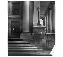 St Pauls Anglican Cathedral Malta Side Door Mono Study Poster