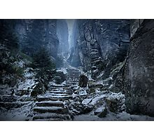 Emperor's Passage, Prachov Rocks Photographic Print