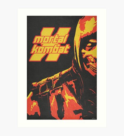 Scorpion - Mortal Kombat X Art Print