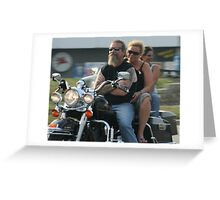Mature Bikers Greeting Card