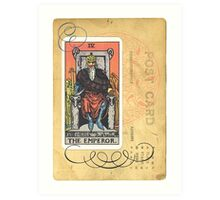 The Emperor Tarot Card Art Print