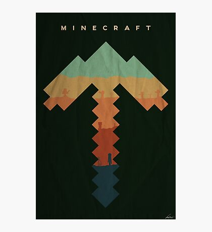Exploration - Minecraft Photographic Print